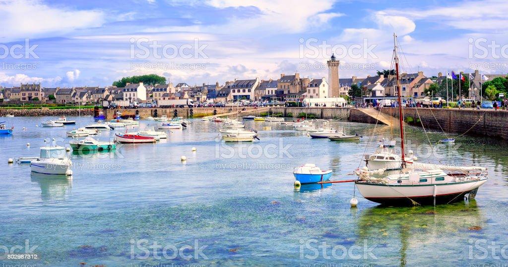 Fischers Boote im Hafen von Roscoff, Bretagne, Frankreich – Foto