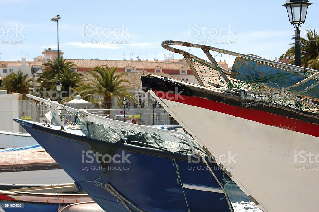 Fishermans boats royalty-free stock photo