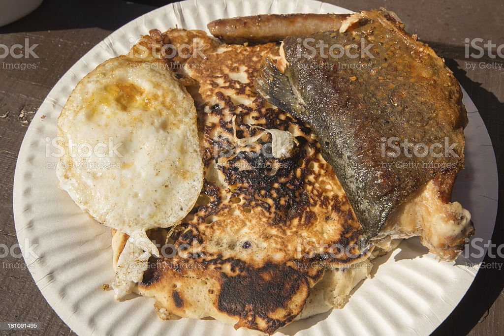 Fisherman's breakfast royalty-free stock photo