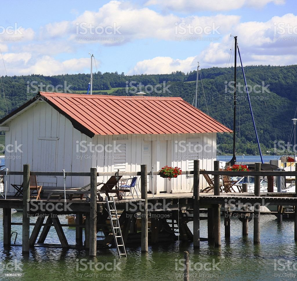 fisherman's cottage royalty-free stock photo
