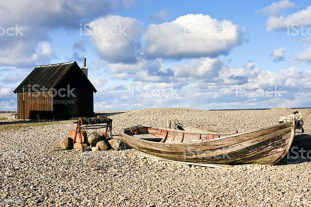 Fisherman's Hut royalty-free stock photo