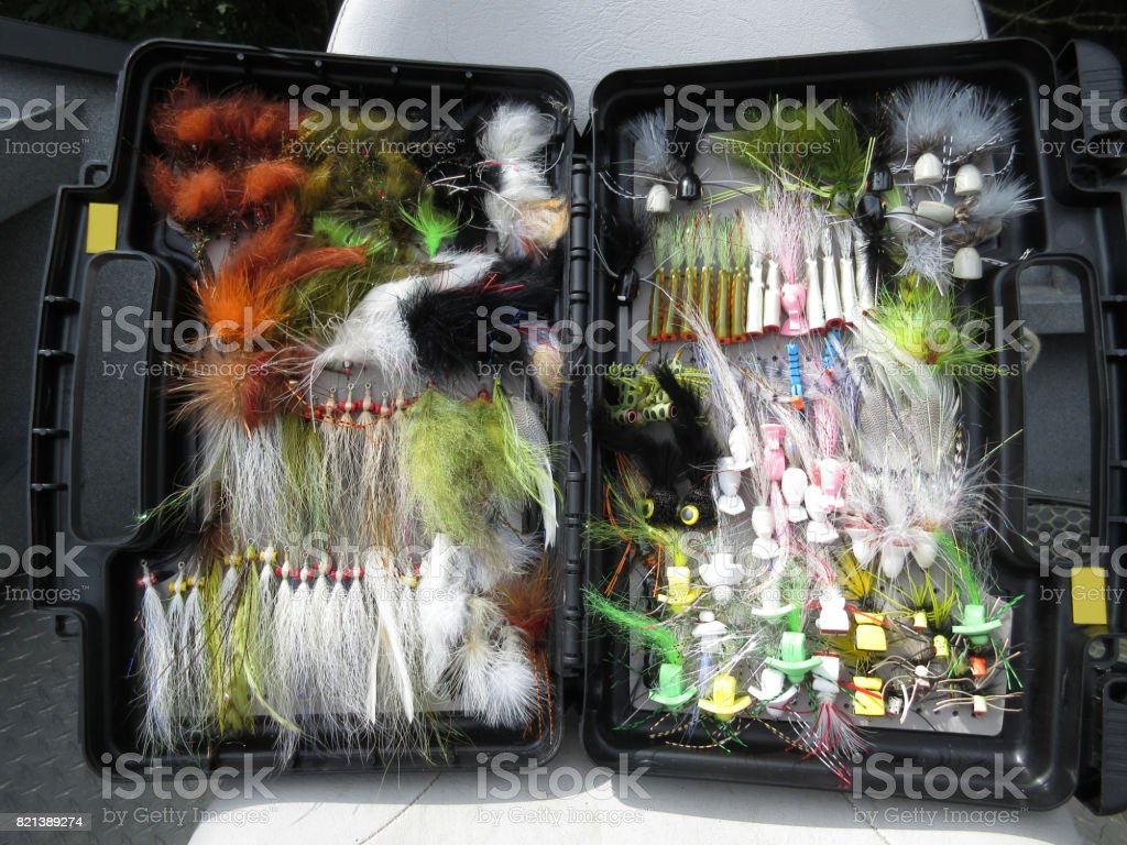 Fisherman's Kit for Smallmouth Bass stock photo