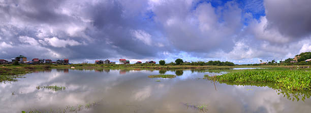 Fisherman's village stock photo