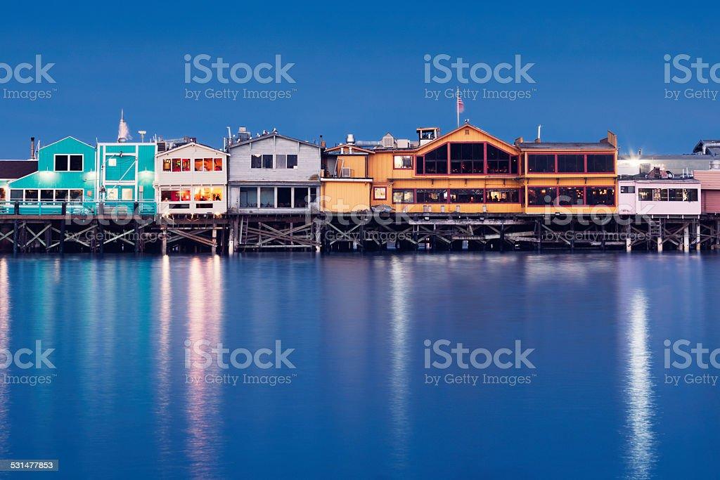 Fisherman's Wharf in Monterey, California stock photo