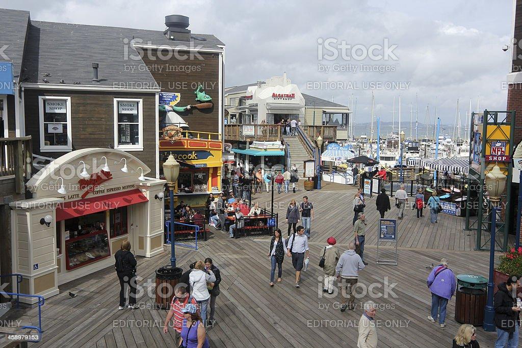 Fisherman's Wharf in San Francisco, California royalty-free stock photo