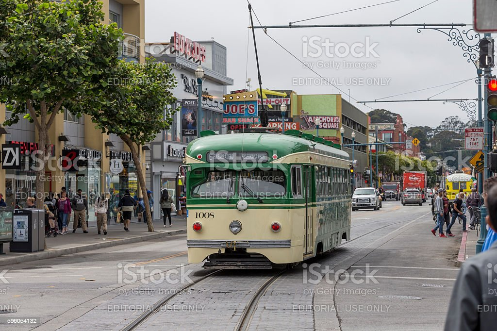 Fishermans' Wharf in San Francisco, California royalty-free stock photo