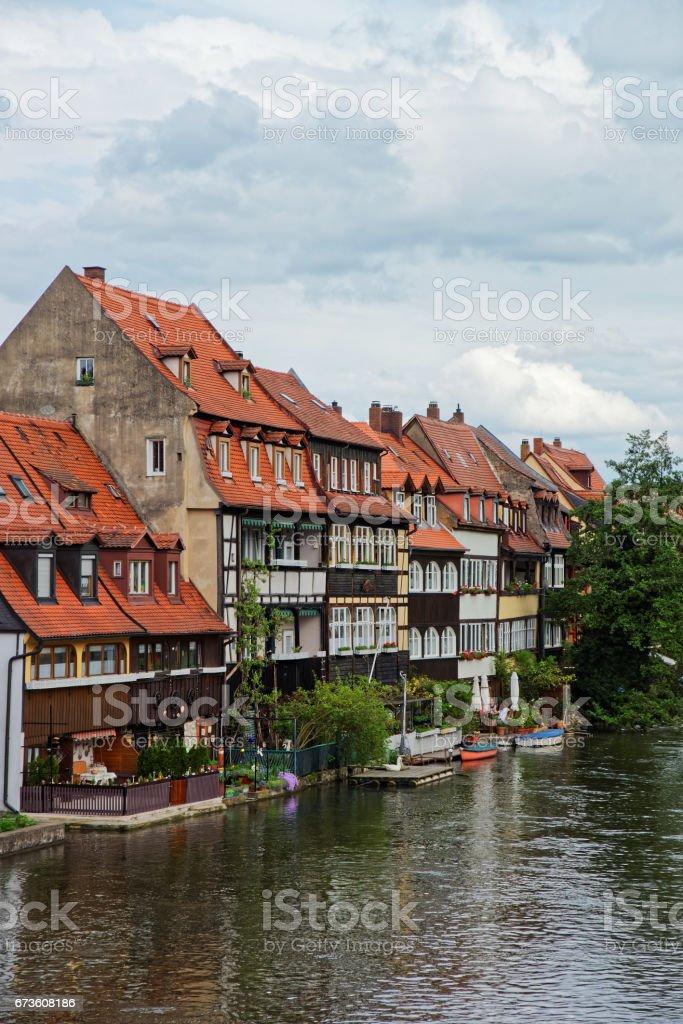 Fischerhäuser Regnitz River im kleinen Venedig-Bamberg – Foto