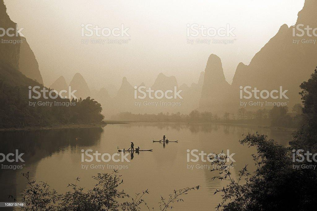 Fishermen in China royalty-free stock photo