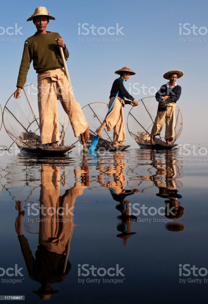 Fishermen,, Myanmar stock photo