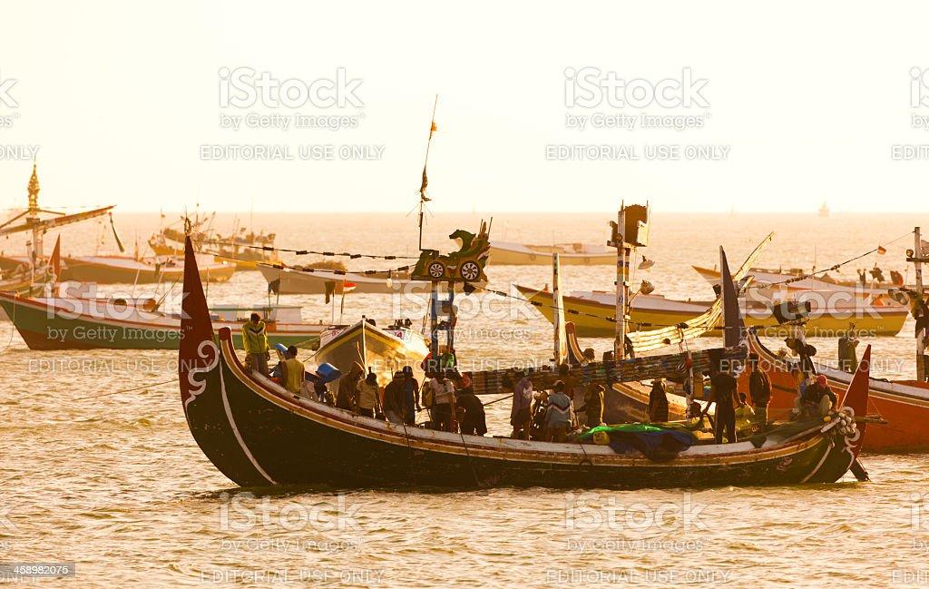 fishermen of Bali stock photo