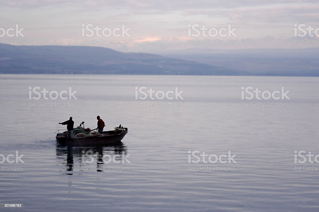 Fishermen royalty-free stock photo