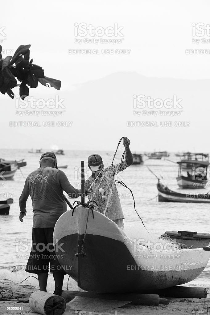 Fishermens royalty-free stock photo