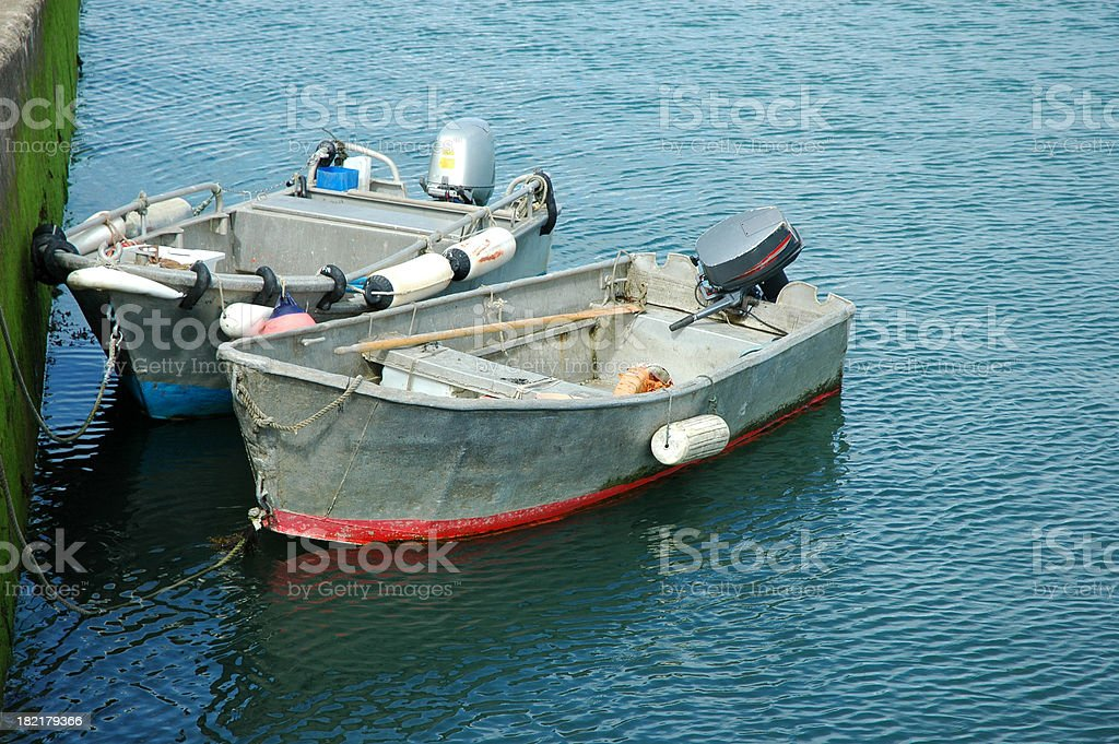 Fisher's boats royalty-free stock photo