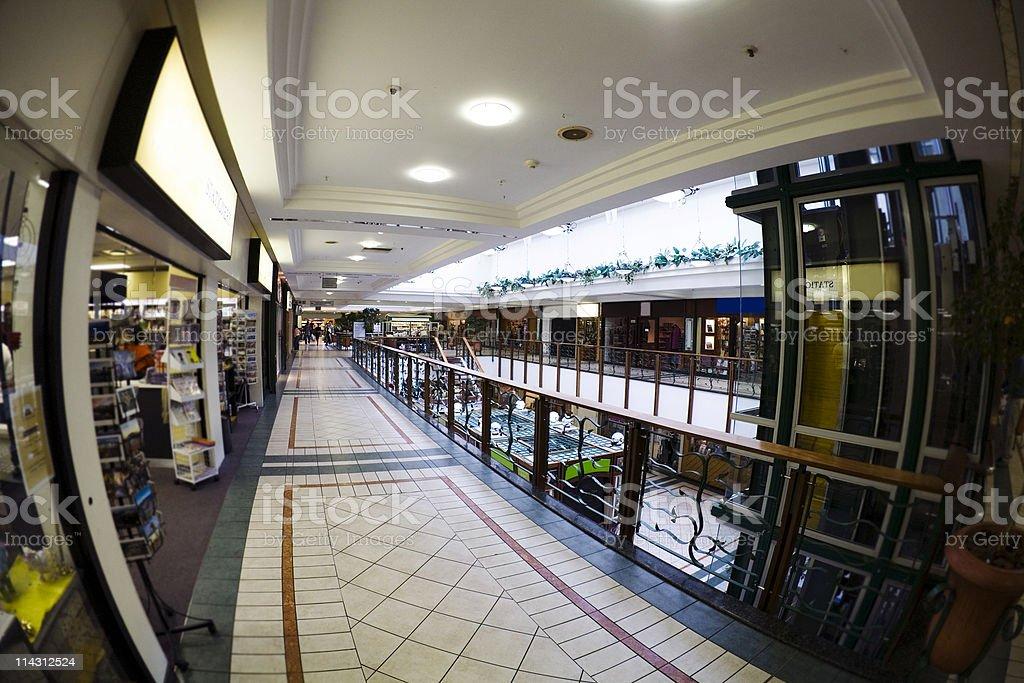 Fisheye mall stock photo