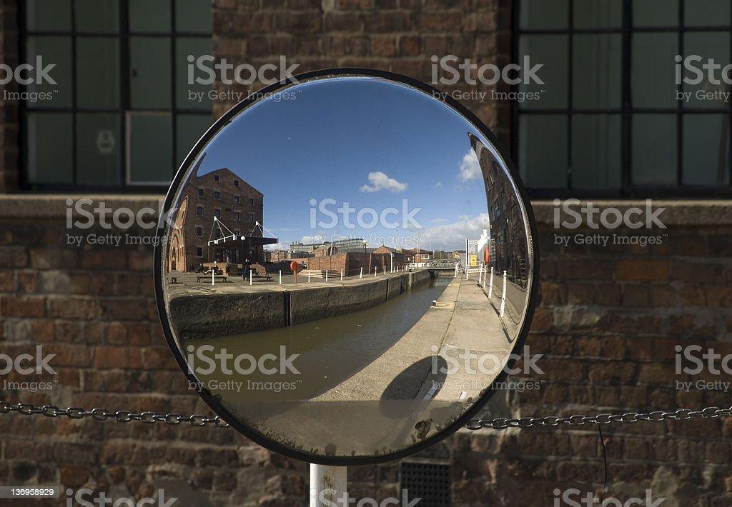 Fisheye Mirror stock photo