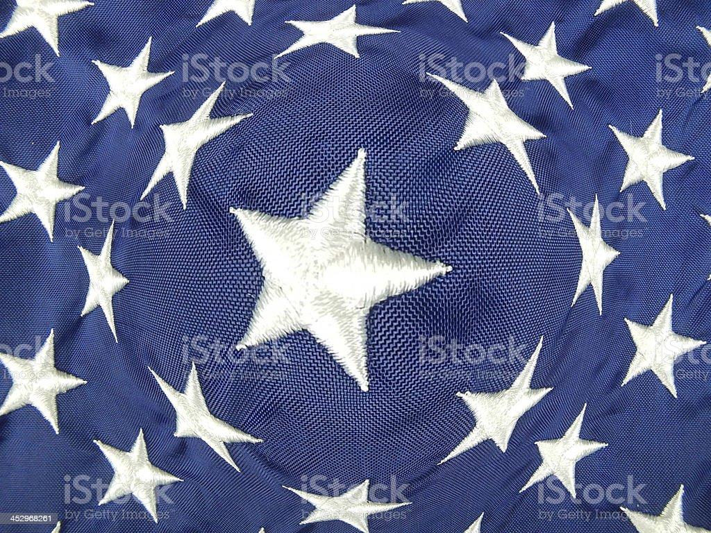 Fish-Eye Stars of the United States Flag royalty-free stock photo