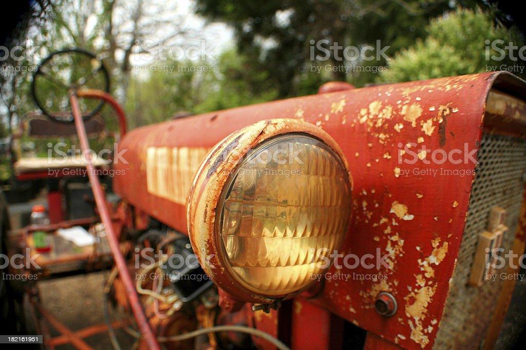 Fisheye Tractor stock photo