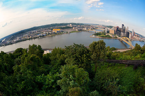 Fisheye View of Downtown Pittsburgh and North Shore