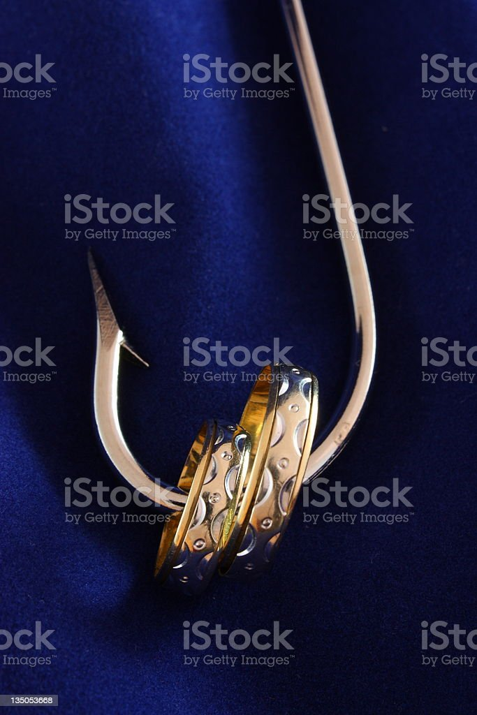 Fishhook and rings royalty-free stock photo
