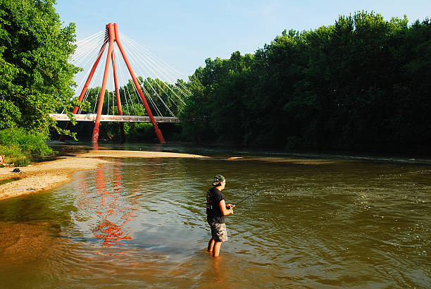 fishing and the modern - columbus day stok fotoğraflar ve resimler