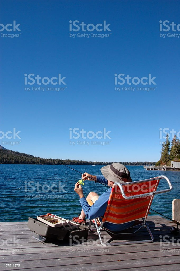 Fishing At The Lake royalty-free stock photo