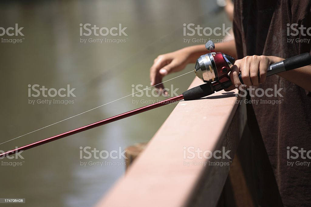 Fishing at the Pier royalty-free stock photo