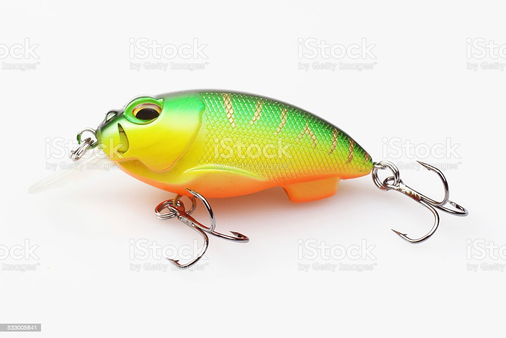 fishing bait isolated on white background stock photo