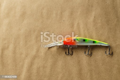 989682362 istock photo Fishing bait tackle and baubles for fishing , wobbler. 1180632459