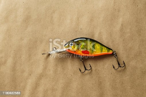 989682362 istock photo Fishing bait tackle and baubles for fishing , wobbler. 1180632583