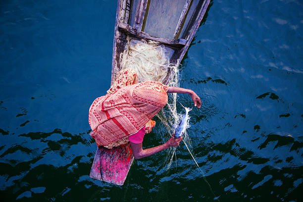 Fishing, Bangladesh 스톡 사진