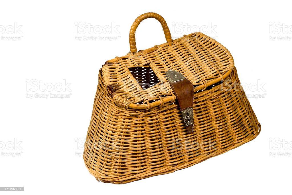 fishing basket royalty-free stock photo