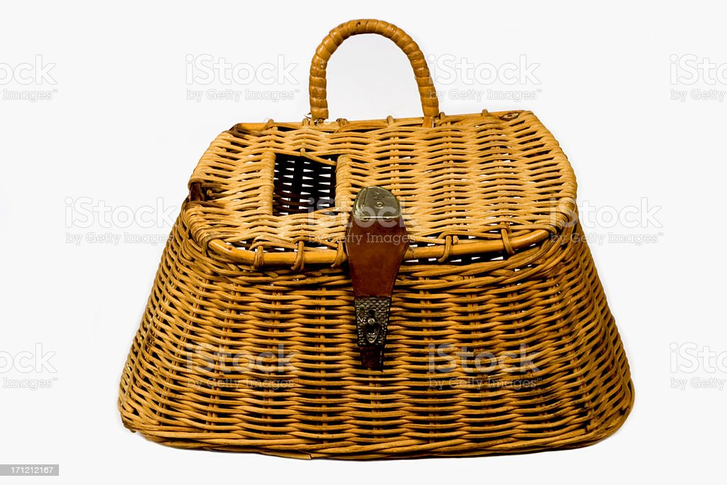 fishing basket stock photo