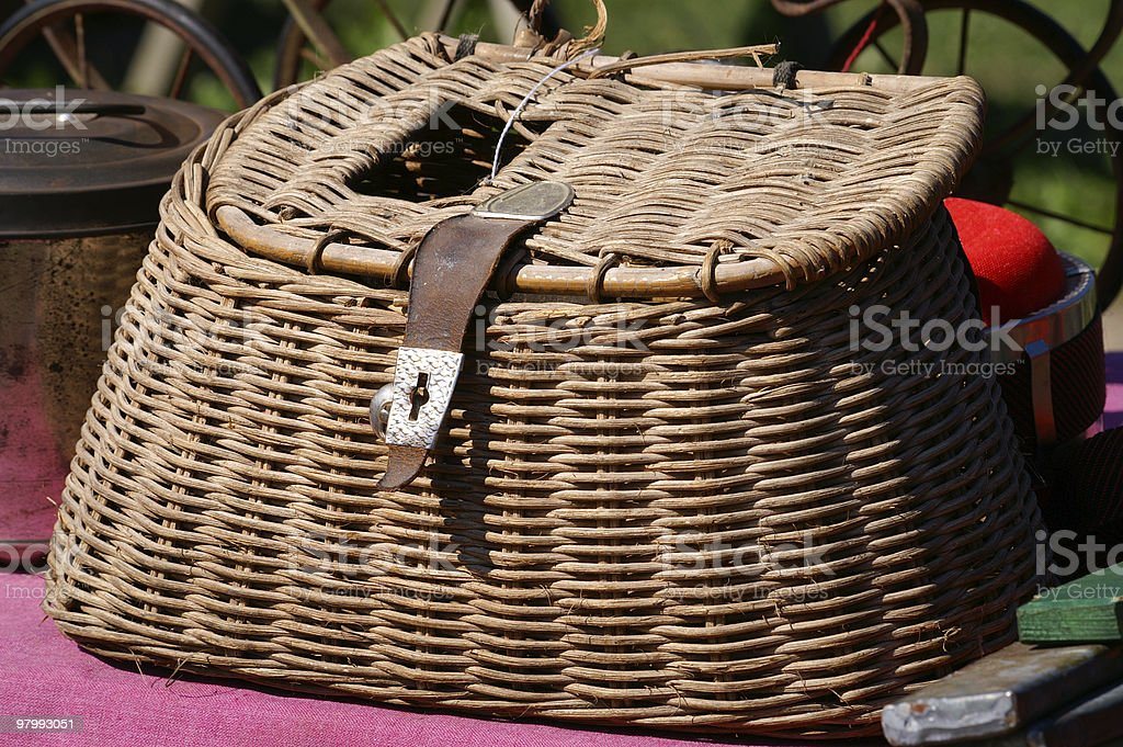 Fishing Basket royalty-free stock photo