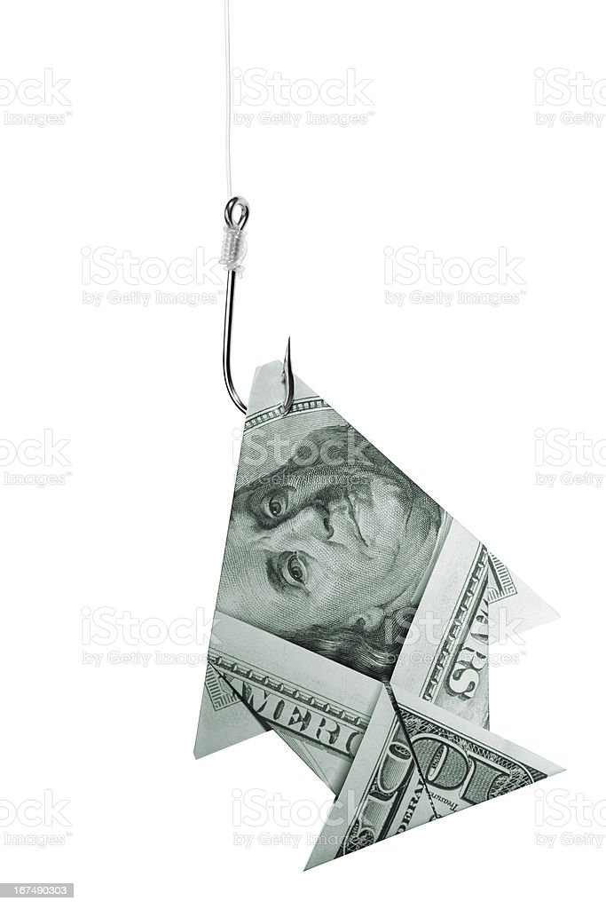 Fishing big money concept royalty-free stock photo