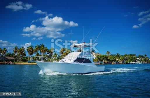 Fishing boat Biscayne bay Miami Florida