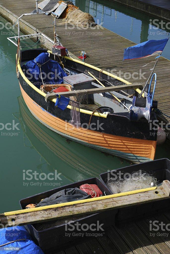 Fishing boat. Brighton Marina. Sussex. England royalty-free stock photo