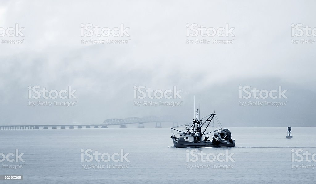 Fishing Boat, Columbia River stock photo