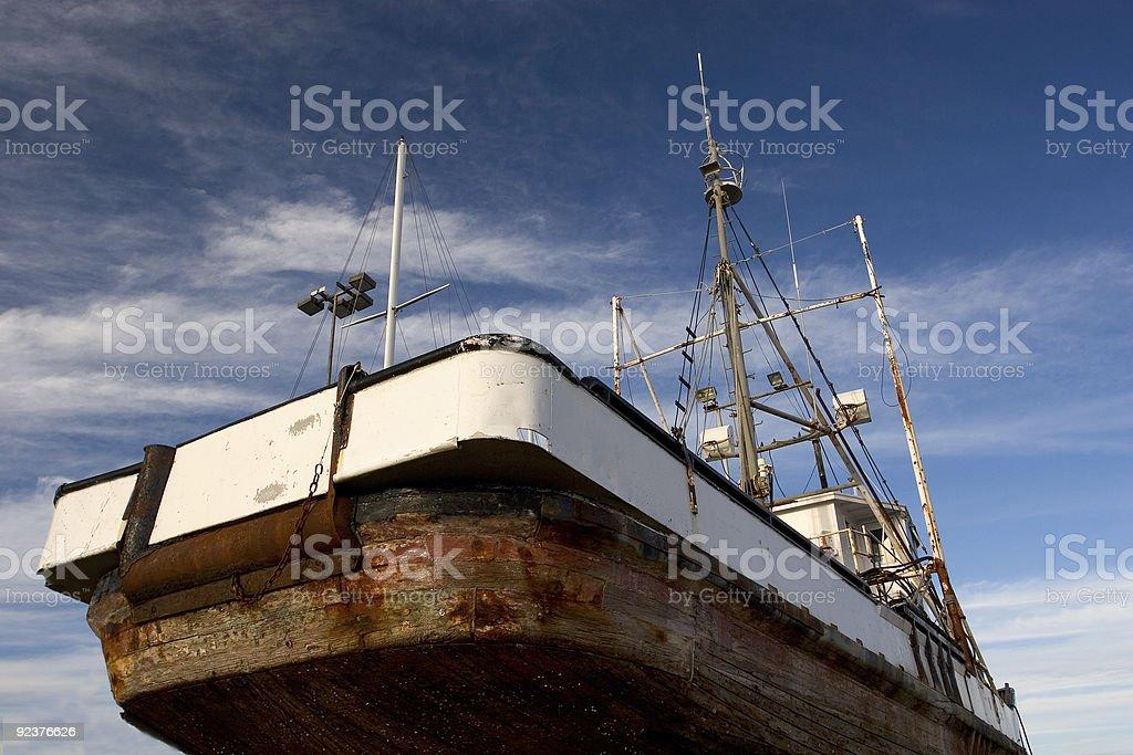 Fishing Boat, Dry Dock royalty-free stock photo