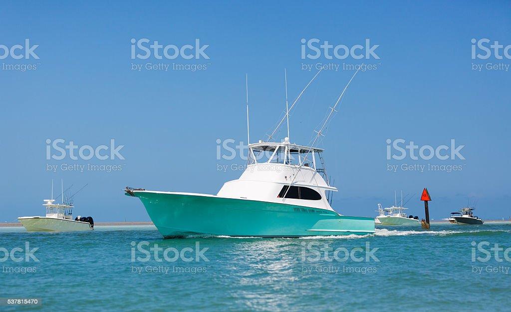 Fishing boat florida keys stock photo