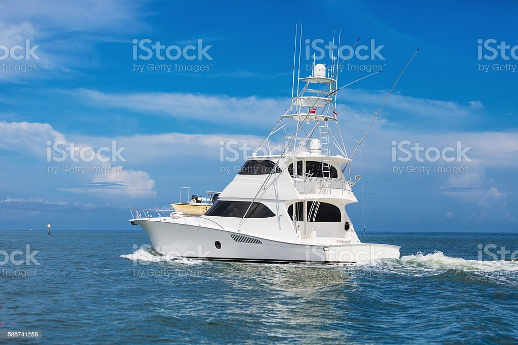 Fishing boat Florida stock photo