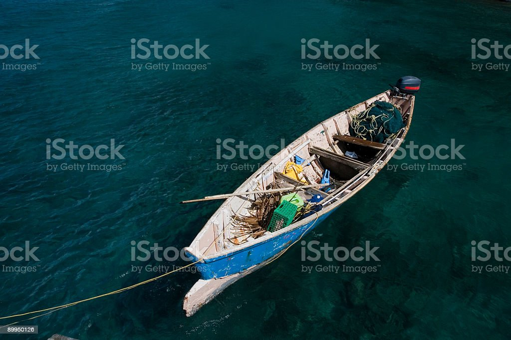 Fishing Boat from Saint Lucia stock photo