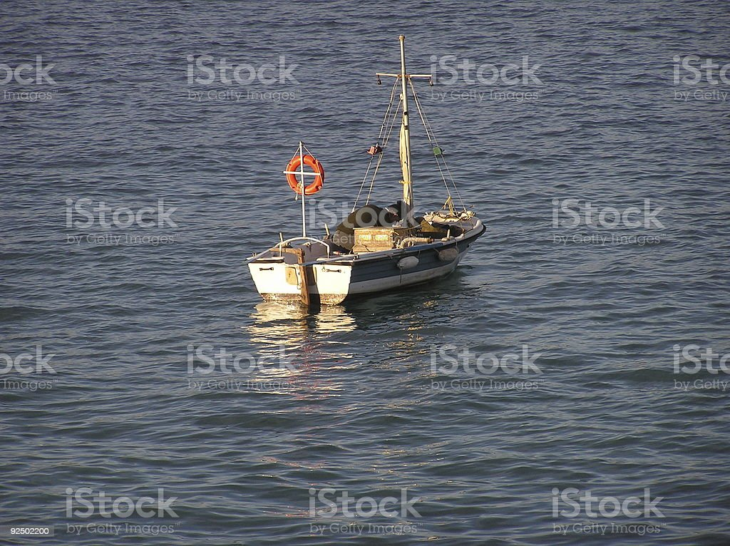 fishing boat, Greece royalty-free stock photo