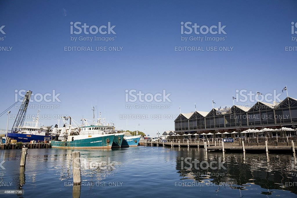 Fishing Boat Harbour Fremantle stock photo