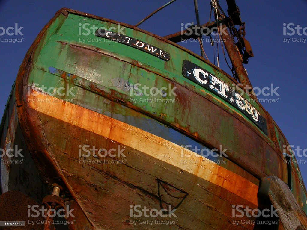 Fishing Boat Hull royalty-free stock photo