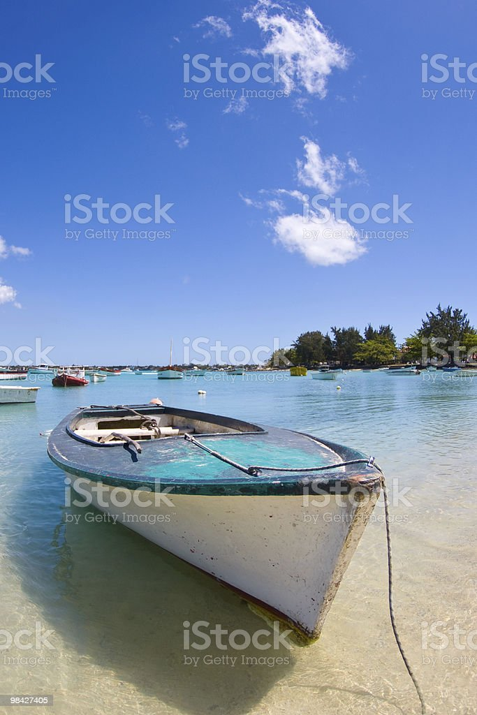 Fishing boat in Indian Ocean royalty-free stock photo