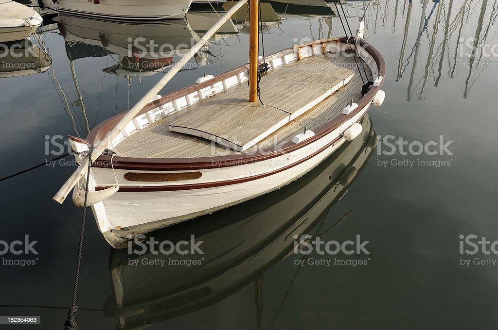 Fishing Boat in Marina royalty-free stock photo