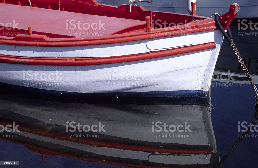 fishing boat in the port royalty-free stock photo