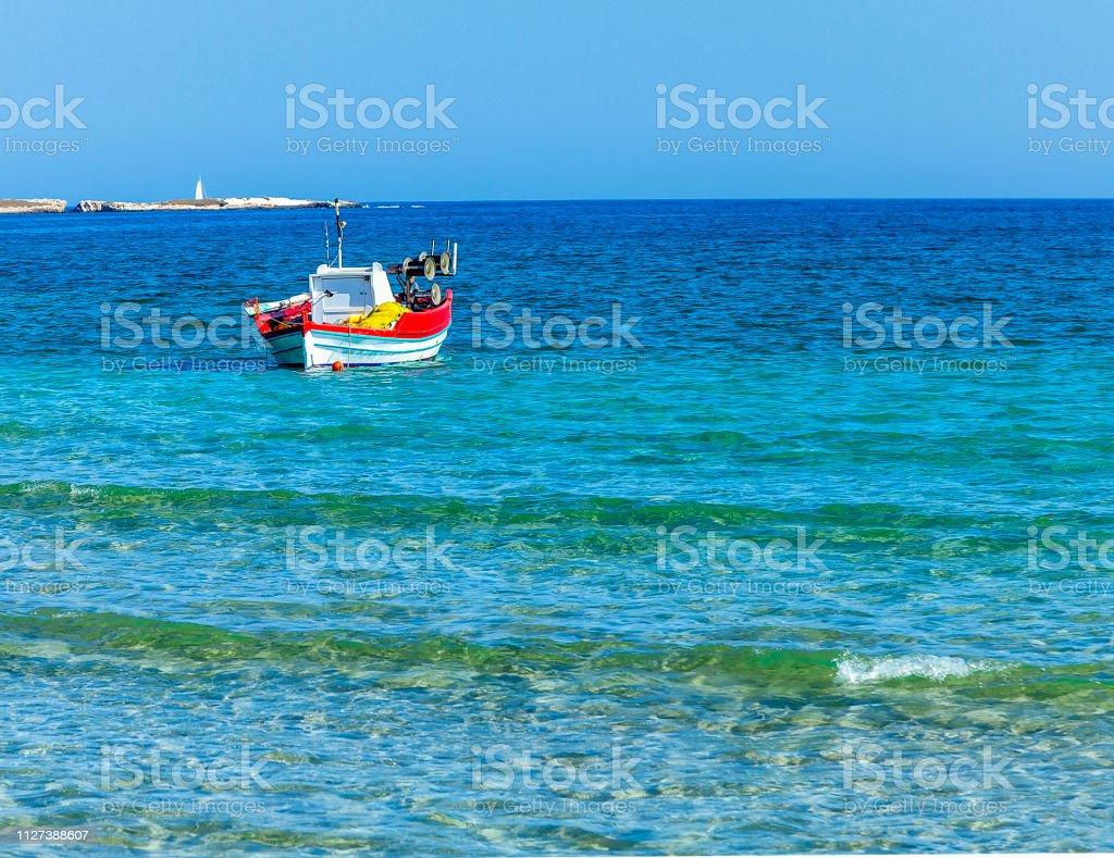 Fishing Boat. Isolated Image stock photo