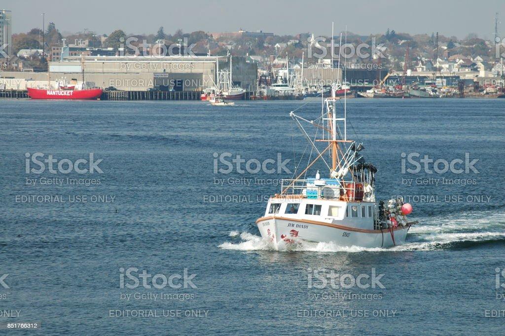 Fishing boat Jim Dandy stock photo