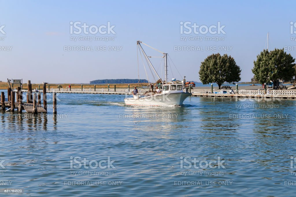 Fishing Boat Leaves The Knapps Narrows Marina On Tilghman Island Maryland Heading To The Chesapeake Bay Stock Photo Download Image Now Istock